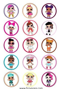 Doll Party, Collage Template, Topper, Lol Dolls, Bee, Playing Cards, Templates, Balloon Crafts, Star Wars Art