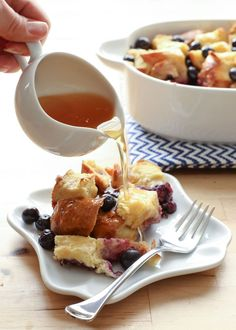 Blueberry Lemon Baked French Toast recipe by Barefeet In The Kitchen