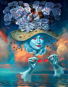 Surrealism and absurd!!!  Michael Cheval.