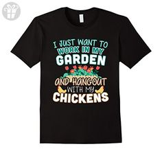 Mens Funny Work In My Garden Hang Out With My Chickens T-shirt 2XL Black - Funny shirts (*Amazon Partner-Link)