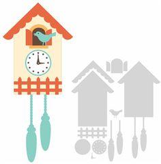 Silhouette Online Store - View Design #10131: cuckoo clock kit 1