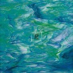 Translucido Verde Oscuro y Azul 623-7S 122x61cm