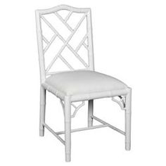 Berkshire Regency Laquer Chippendale Side Chair - White   Kathy Kuo Home