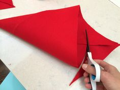 633a1348c0d 2 minute step by step guide for an easy way to make a cute no sew gnome or  dwarf children s hat out of felt and glue. No sewing required!