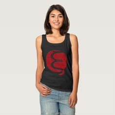 Ethereum Classic (red) design Basic Tank Top designed by Andras Balogh | http://andras.design