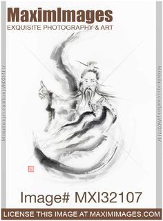 Stock image of Artistic painting of a Daoist Immortal master practicing Tai Chi Buy commercial use license at MaximImages Wall Art Prints, Fine Art Prints, Zen Home Decor, Photo Studio Lighting, Sumi E Painting, Quick Quotes, Martial Artist, Old Master, Tai Chi
