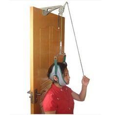 genmine Over The Door Cervical Traction Device Set Unit for Neck Shoulder Brace Head Pain Relief Home Shoulder Pain Relief, Neck And Shoulder Pain, Physical Therapy Exercises, Shoulder Brace, Neck Exercises, Head Pain, How To Look Better, The Unit, Health Care