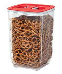 Another great find on #zulily! Red Stack 'N Store Square 152-Oz. Canister #zulilyfinds