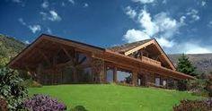 Znalezione obrazy dla zapytania dom w drewnie i kamieniu