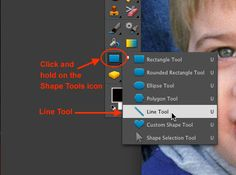 Photoshop Elements Tutorials - draw lines