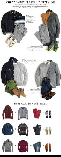 men's clothing cheat sheet