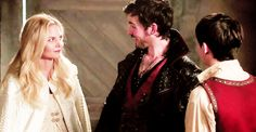 I love this scene! Hook being proud of Henry/slightly poking fun at him like a real family!