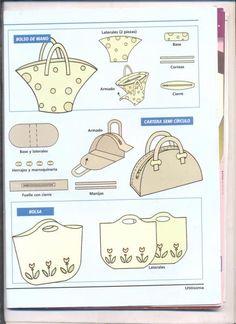Bag pattern~Simple is always good~ Barbie Patterns, Easy Sewing Patterns, Purse Patterns, Diy Purse, Tote Purse, Accessoires Barbie, Diy Sac, Ideias Diy, Craft Bags