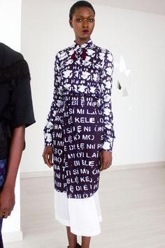 DYNAMIC AFRICA - Select Pieces from Maki Oh's Fall 2014...