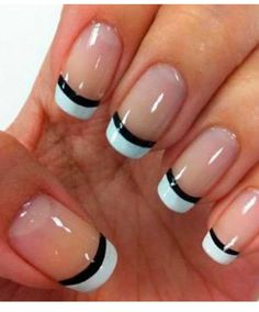 nails french tip / nails french - nails french tip - nails french ombre - nails french design - nails french manicure - nails french tip color - nails french tip with design - nails french tip glitter French Nails, French Manicure Nail Designs, Nail Art Designs 2016, Gel Nail Designs, French Manicures, Nails Design, French Pedicure, Black French Manicure, White Manicure
