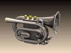 Modeled this after extensively measuring the dimensions of the instruments I have, which are; Olds Ambassador Cornet, King Master Cornet, Holton Colle Pocket Trumpet, Brass Instrument, Entry Level, 3d Printing, Have Fun, Instruments, Prints, Enabling, 10 Years