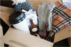 This winter wedding welcome bag is full of things your guests can use during their stay!