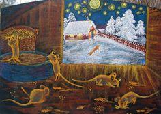 Waldorf ~ 4th grade ~ Human & Animal ~ Mice ~ chalkboard drawing ~ http://www.waldorf-ideen-pool.de/index.php?aid=1900