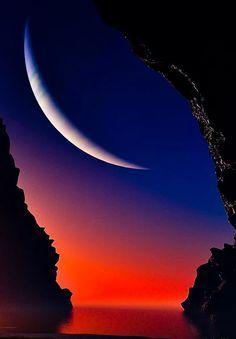 Alguna vez has visto a la luna sonreír????
