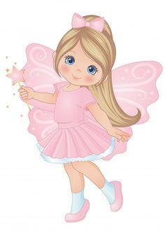 Criança pequena fada mágica bonita | Premium Vector #Freepik #vector #borboleta #bonitinho #crianca #fadas Cute Cartoon Pictures, Cute Cartoon Girl, Cartoon Pics, Cute Cartoon Wallpapers, Cartoon Art, Baby Clip Art, Baby Art, Art Drawings For Kids, Cute Drawings