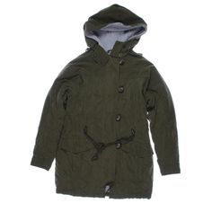 SANTUARY. Green Twill Faux Fur Lined Anorak Jacket Coat. Taille SMALL.