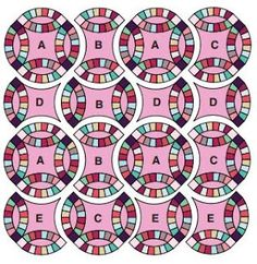 New Ideas For Patchwork Patrones Free Pattern Wedding Ring Paper Piecing, Quilt Patterns Free, Free Pattern, Double Wedding Rings, Double Wedding Ring Quilts, Do It Yourself Fashion, Quilting Tutorials, Quilting Tips, Book Crafts