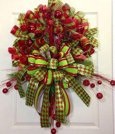 Guirnalda de acoplamiento de la Navidad por WilliamsFloral en Etsy