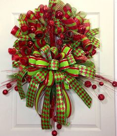 Christmas Mesh Wreath on Etsy, $149.00
