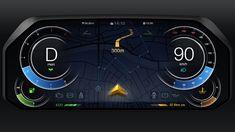 自動車メーターのUIデザイン - Car Meter UI Design