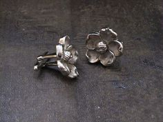 vintage silver women's cufflinks