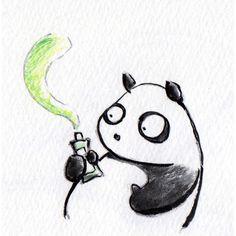 【一日一大熊猫】 2014.12.7 布や紙等はダメだけどフローリングや わりとツルっとした物に付いた 油性ペンのインキはワサビで落ちるらしいよ。 チューブ入りのワサビでも。 大掃除に使えそうだね。。。