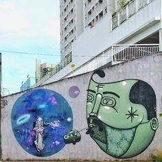 Finok & Thiago Toes in Baixada do Glicério, Cidade Cinza, São Paulo, Brazil, 2017