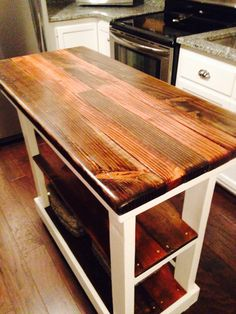 Multi Functional Tall Table American & Dark Walnut Stained