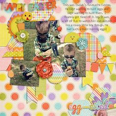 Digital Scrapbook Layout by LaShawn | Basket Case Kit | Bella Gypsy Designs.