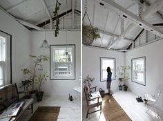 Interiér podle japonského studia no.555.  obývací pokoj