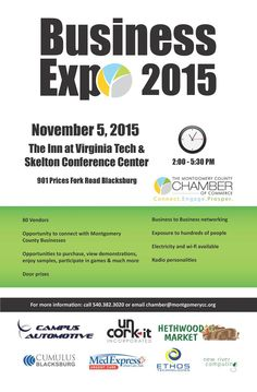 The Montgomery County Chamber of Commerce presents their Business Expo 2015 at the The Inn at Virginia Tech and Skelton Conference Centeron Thursday, November 5, 2015.