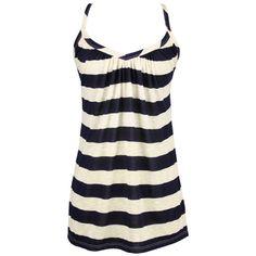 Am I sick of black & white stripes?  Sadly, no.  On the Boardwalk Tank found on Polyvore