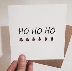 Kartki świąteczne DIY, ręcznie robione kartki świąteczne, fot. instagram.com/claudiagolft