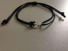 Bracelet cordon noir homme