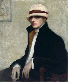 """The Parisienne"" (1924) portrait by Agnes Noyes Goodsir an Australian painter who moved within lesbian circles in Paris in the 1920s and 1930s."