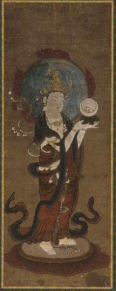 One of the twelve deva: Gwat'ten (Candra). Japan, Muromachi period, late 15th-early 16th century.