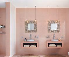 Les 10 meilleures images de salle de bains rose | Salle de ...