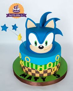 Make it shadow Sonic Birthday Cake, Sonic Birthday Parties, Sonic Party, 4th Birthday Cakes, Bolo Sonic, Sonic Cake, Gateau Power Rangers, Sonic The Hedgehog Cake, Hedgehog Birthday