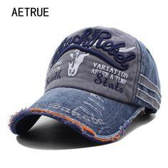 0cc22ada3a3 AETRUE Brand Men Baseball Caps Dad Casquette Women Snapback Caps Bone Hats  For Men Fashion Vintage Hat Gorras Letter Cotton Cap