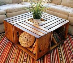 DIY Wine Crate Coffee Table Instructions | Health & Natural Living