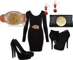 """""""The Perfect Black Dress & accessories for the Holidays"""" by friedlander on Polyvore"""