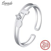 Dorado Classic Bulk Drop Shipping Pure 925 Sterling Silver Double Sets Rings for Women Cross Cubic Zircon Fine Jewelry //Price: $US $6.97 & FREE Shipping //     #hashtag1