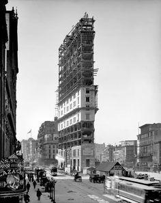 Flatiron Building Under Construction, New York City, 1902