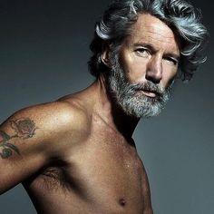Cheveux gris pour hommes.