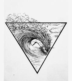 Surf Tattoo California Surfer soul Geometric T Dreieckiges Tattoos, Shark Tattoos, Tattoo Drawings, Wave Tattoos, Tatoos, Surfing Tattoo, Orca Tattoo, Tattoo Bird, Polynesian Tattoo Symbols